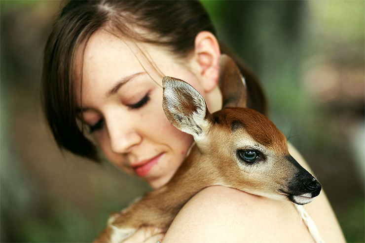 Meet Emmy Lee and her Adorable Fawn