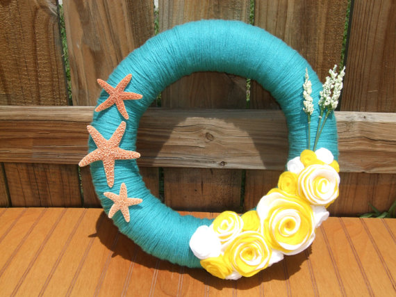 Make And Take Room In A Box Elizabeth Farm: 35 Brilliant Beach Themed Wreath Ideas