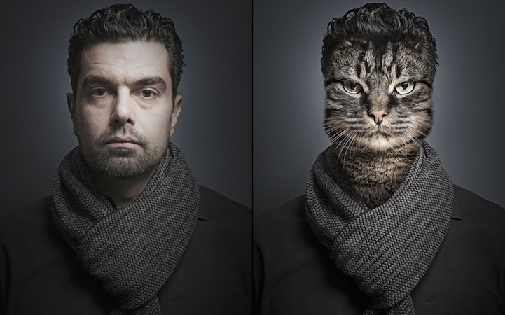 Cats Dressed As Their Owners by Sebastian Magnani