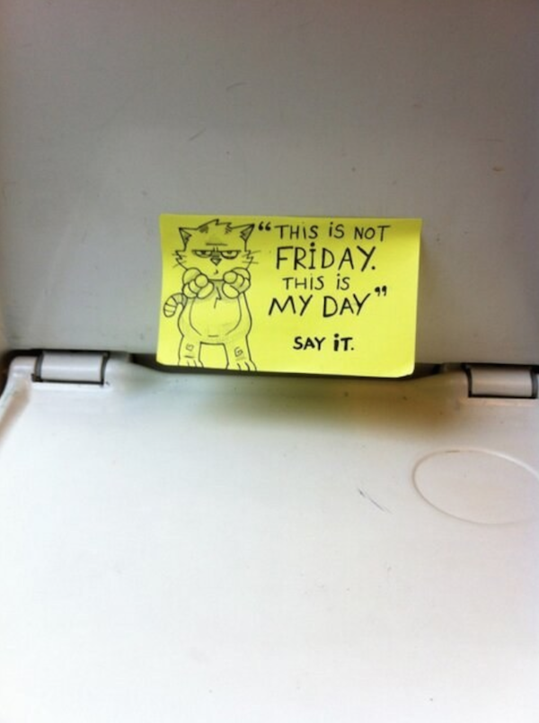 Surprising Motivational Post it Notes on Trains
