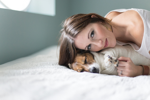 Extremely Funny Newborn Photoshoot with a Dog