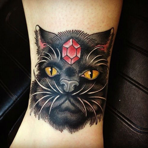 38 Cute Cat Tattoo Examples