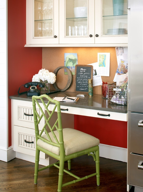 30 Functional Kitchen Desk Designs