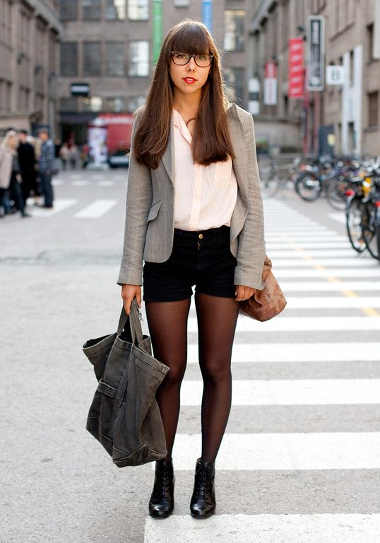 36 Stylish Outfit Ideas with Shorts and Tights