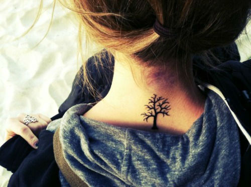 35 Splendid Back of Neck Tattoo Designs