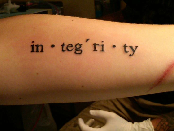 cce858014 40 Charming One Word Tattoo Examples