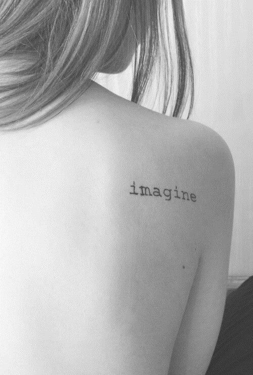 40 Charming One Word Tattoo Examples