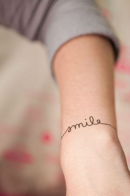 588b7a3c3 40 Charming One Word Tattoo Examples