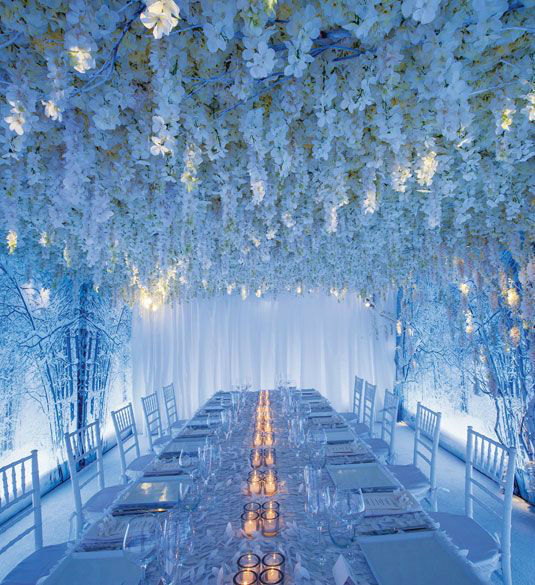 Winter Themed Wedding Ideas: 41 Brilliant Blue And White Winter Wedding Ideas