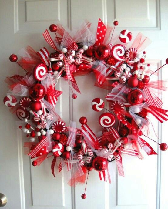 Christmas Candy Decorations.38 Candy Cane Inspired Christmas Decorations Sortra