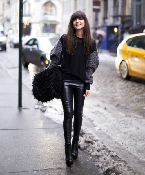 40 Stylish Ways to Wear Leather Trousers