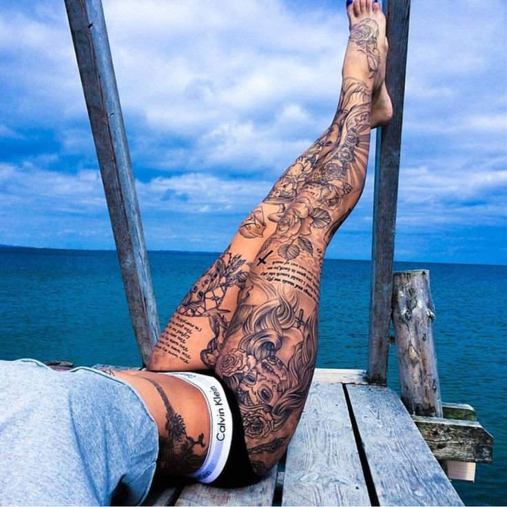 Image result for female leg tattoo