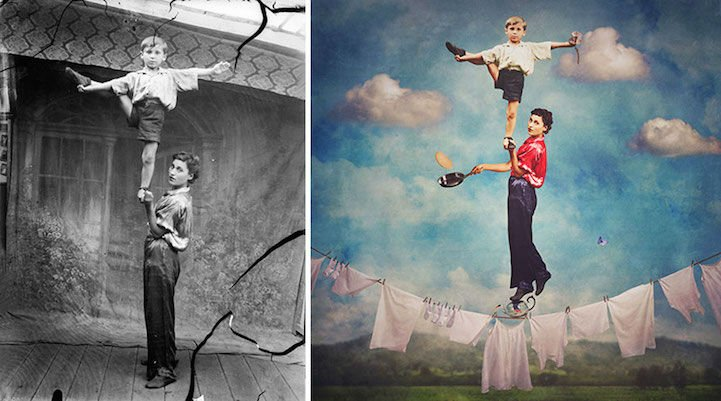 Jane Long Turns WWI Era Photos into Surreal Art