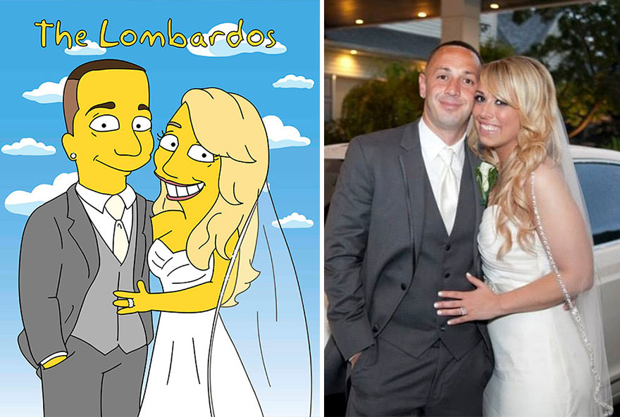 Illustrator Creates The Simpsons Caricatures from Portraits of Random People