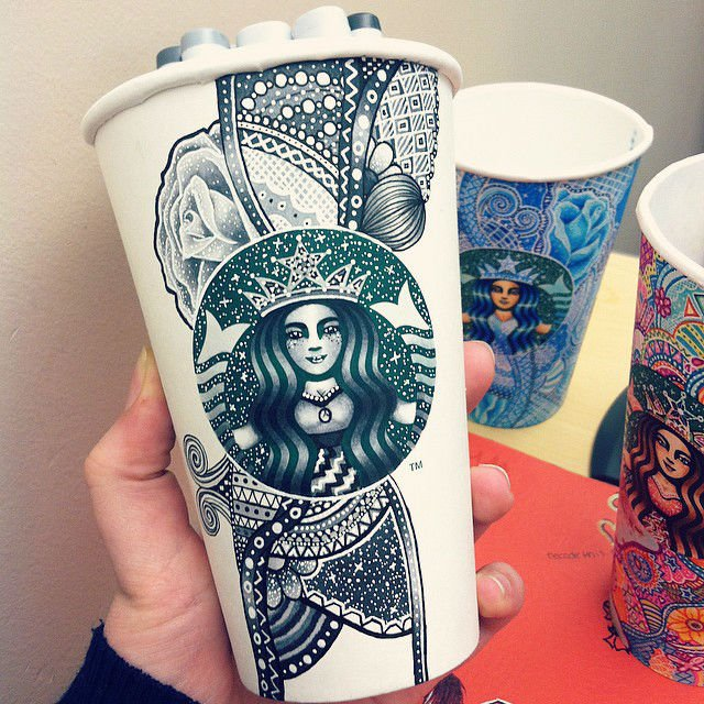 Cups Starbucks To Stunning And Talented Artist Uses Designs Young Create 80mNOyvnw