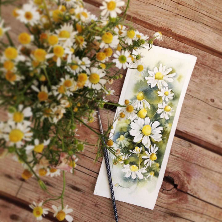 Elenas Watercolor Paintings of Flowers are Quite Impressive