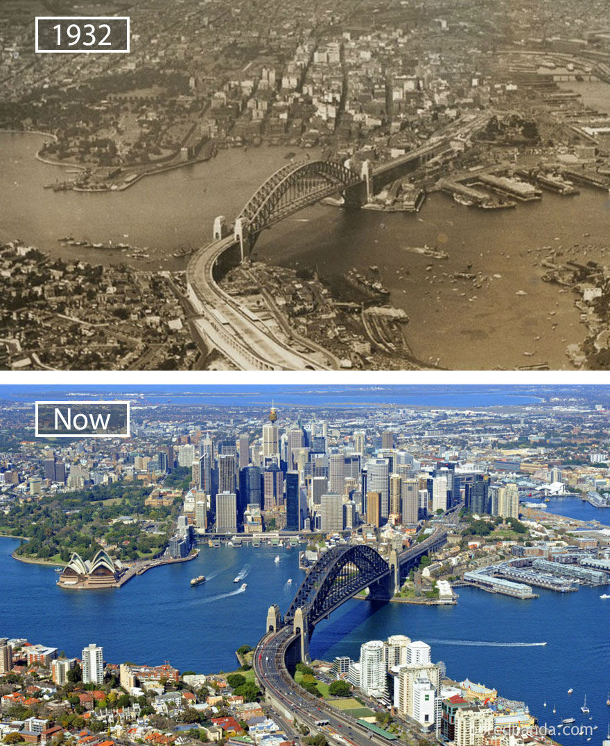 Amazing Before and After Photos of 15 Iconic Cities