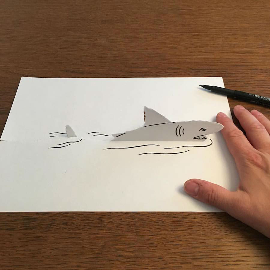 Talented Artist Creates Amazing and Whimsical 3D Drawings