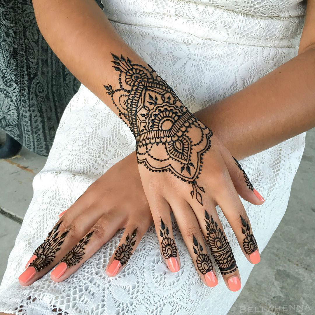 Is Henna Tattoo Haram: 24 Henna Tattoos By Rachel Goldman You Must See