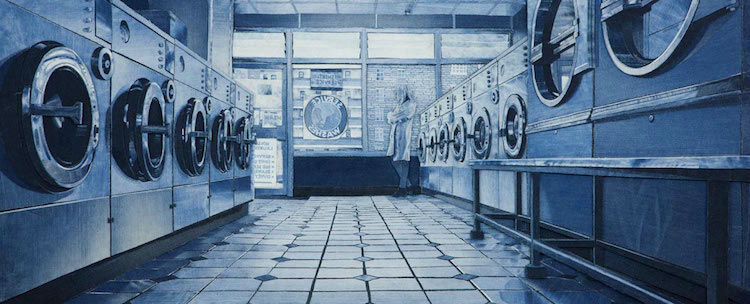 Denim Jeans Used for Creating Realistic Paintings