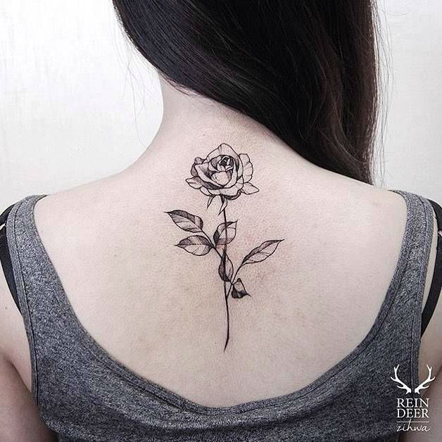 25 Black Rose Tattoo Ideas