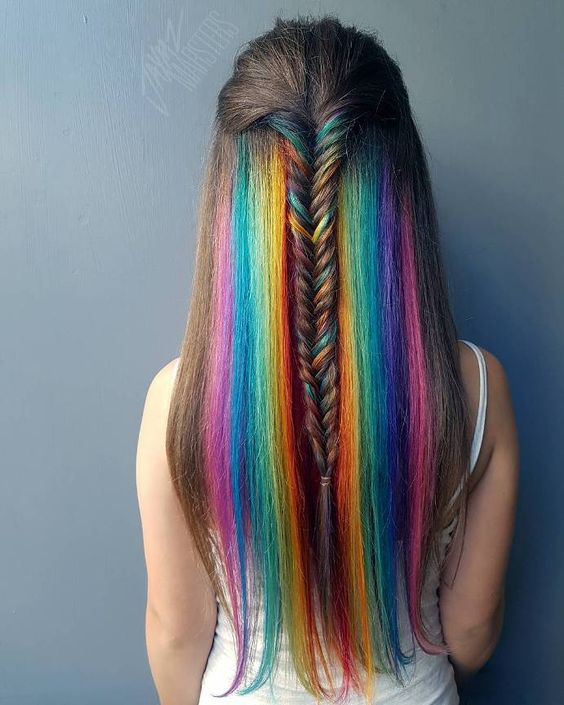 Absolutely Gorgeous Braided Rainbow Hairstyles