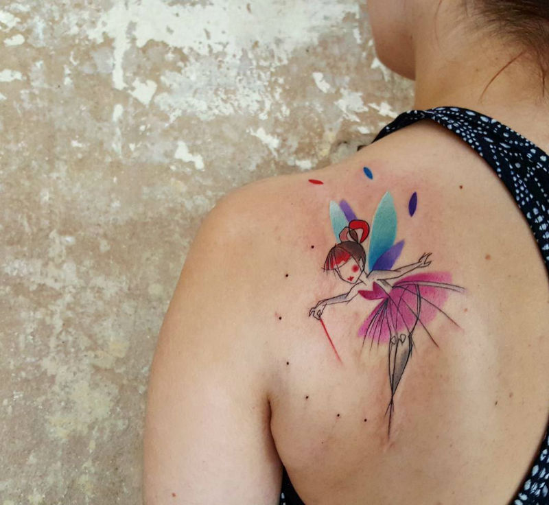 Watercolor Tattoos with Simonas Signature Heart
