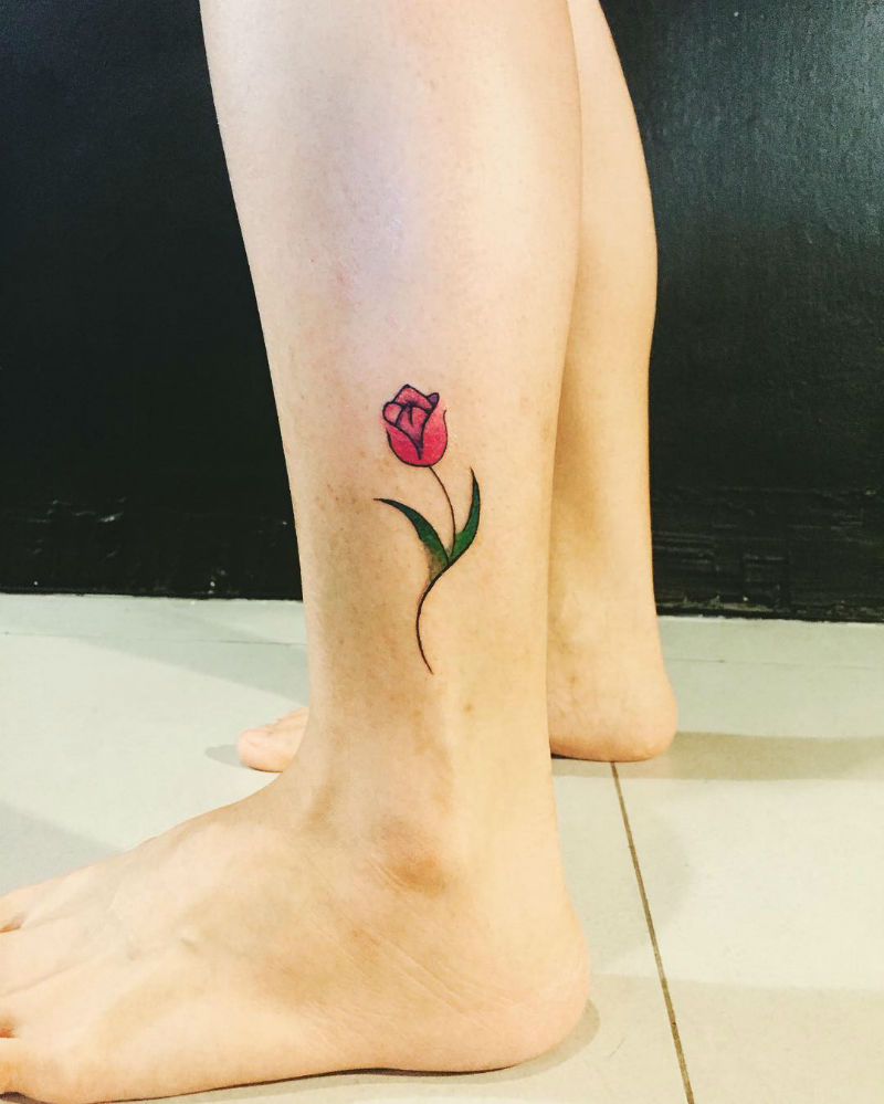 22 Tulip Tattoos by Many Different Artists