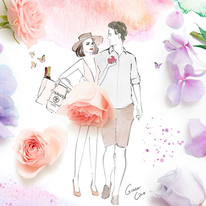 Heartwarming Floral Illustrations of Couples Will Leave You Love Longing