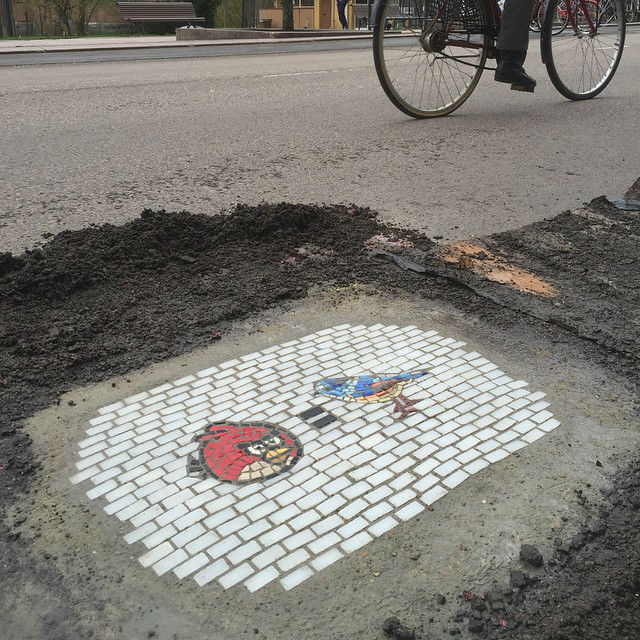 Jim Bachor Patches up Cracks and Potholes With His Stunning Art All Over Chicago