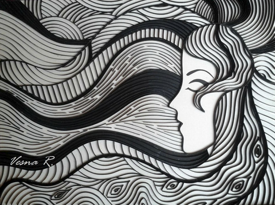 Vesna is a Gifted Artist Who Creates Amazing Artwork out of Paper