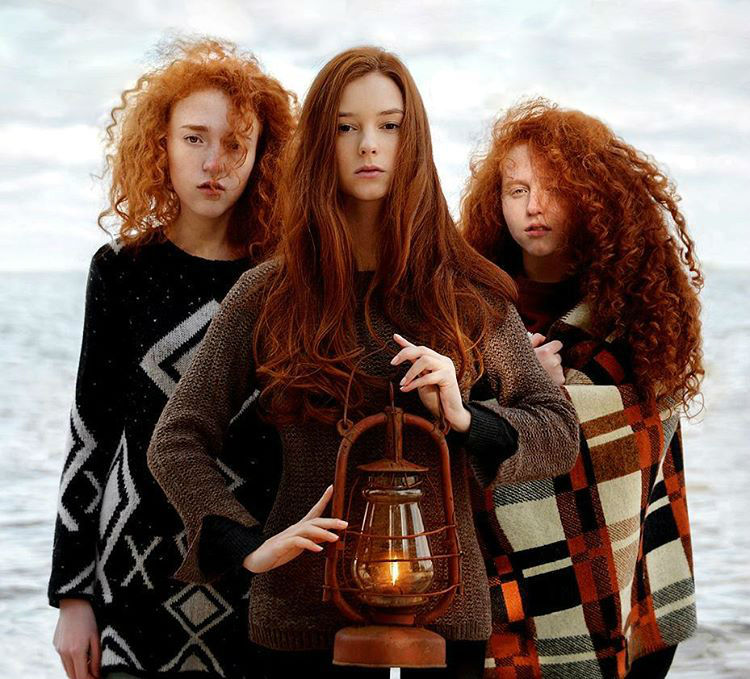 Redheads of Bewitching Portraits by Vitaliy Zubchevskiy