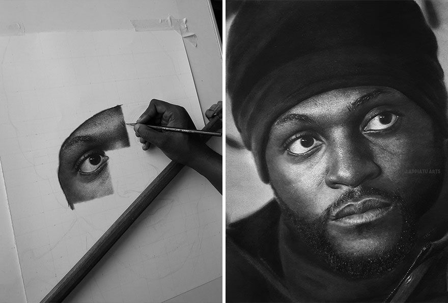Young Artist Uses Graphite to Create Stunningly Realistic Portraits