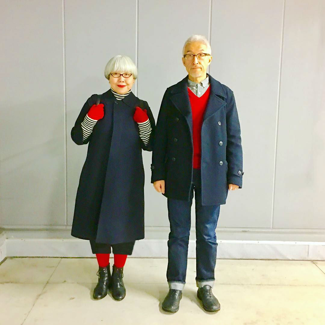 Matching Outfits by the Most Adorable 37 Years Married Couple