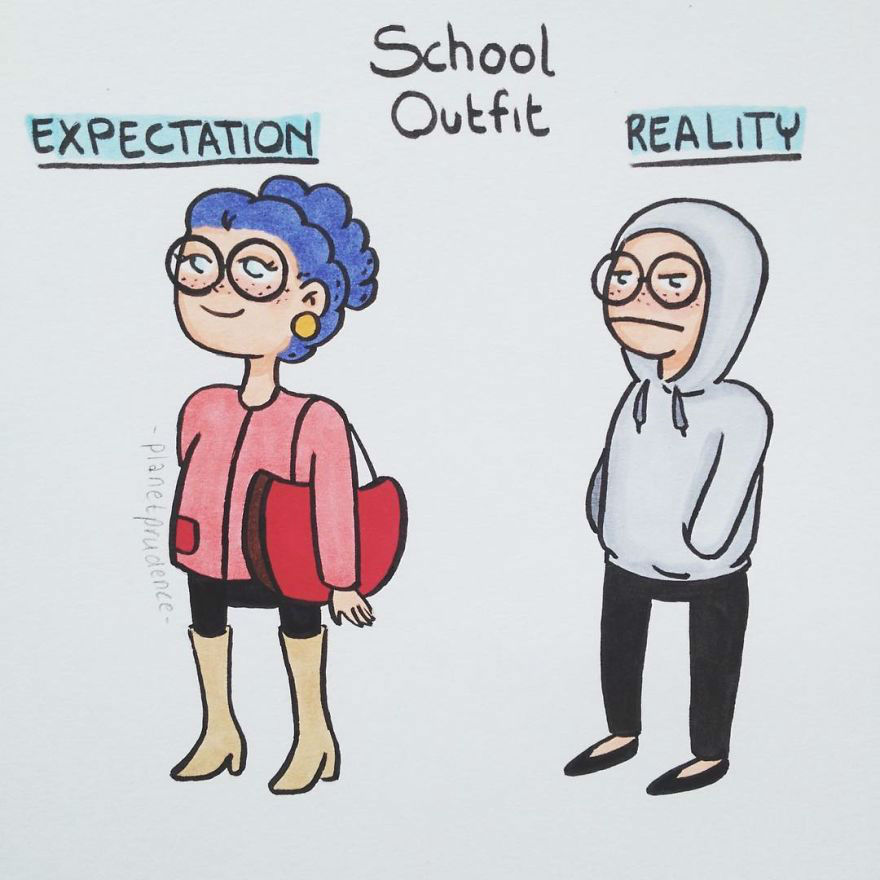 Funny and Relatable Illustrations Show Everyday Struggles of Being a Young Woman