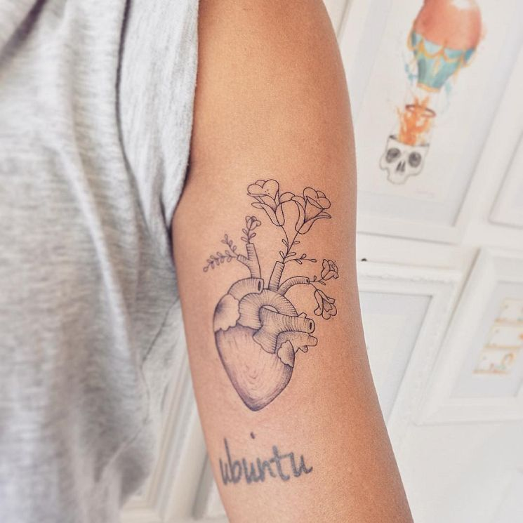 7635494fc Rose from the 'Beauty and the Beast'. Delicate Feminine Tattoos ...