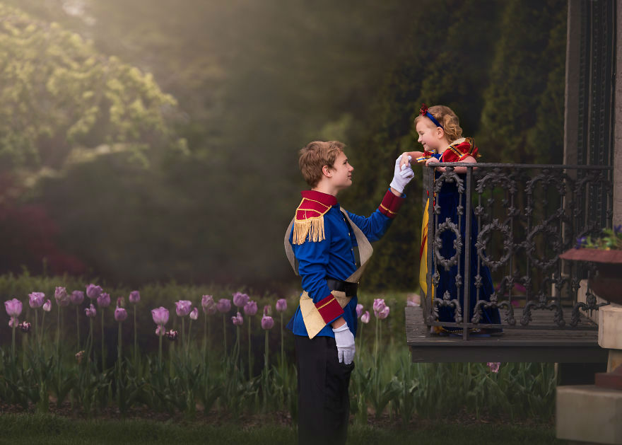 Loving Big Brother Creates a Special Photo Shoot for His Little Princess Belle