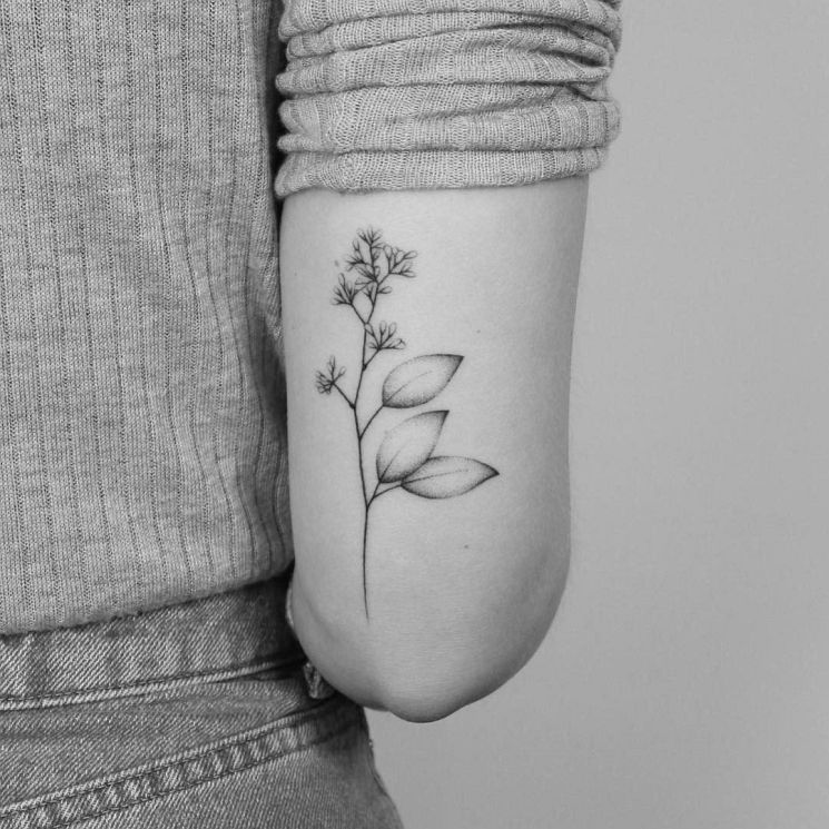 18 Lovely Dainty Twig Flowers Tats by Lara Maju