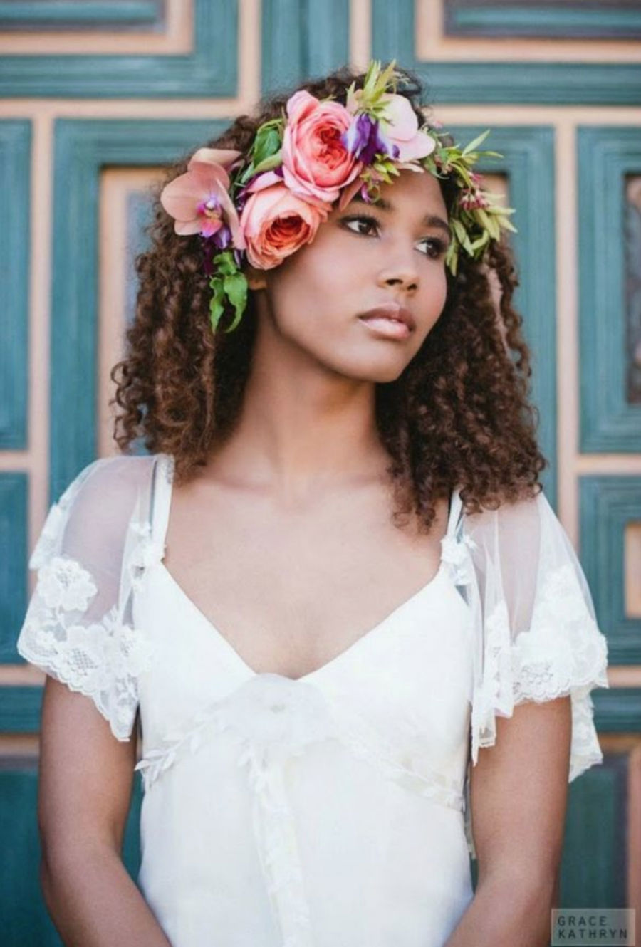 Beyond Baby's Breath: 15 Ethereal Boho Bridal Hairstyles