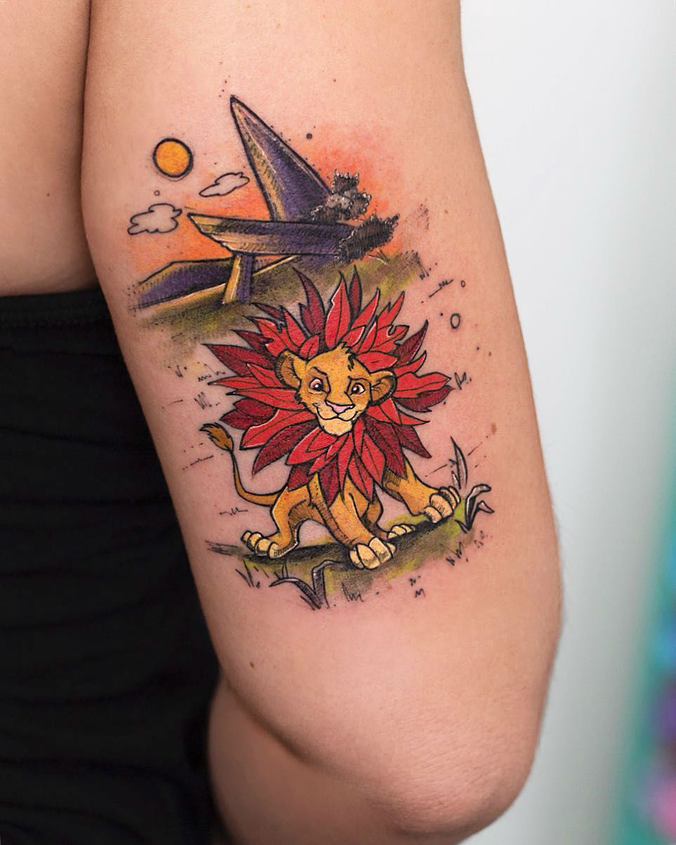 Loose Illustrative Watercolor Tattoo Magic by Robson Carvalho