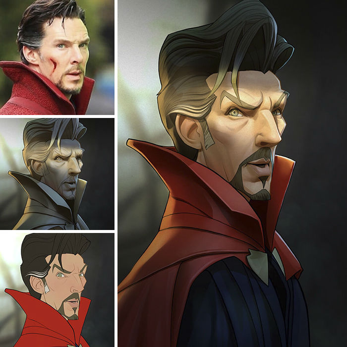 Superheroes and Movie Characters as Cartoon Caricatures