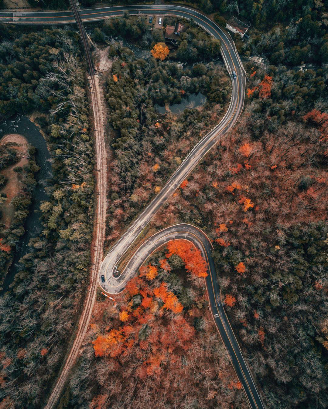 Aerial View Upon Urban and Natural Landscape Wonders by Gary Cummins