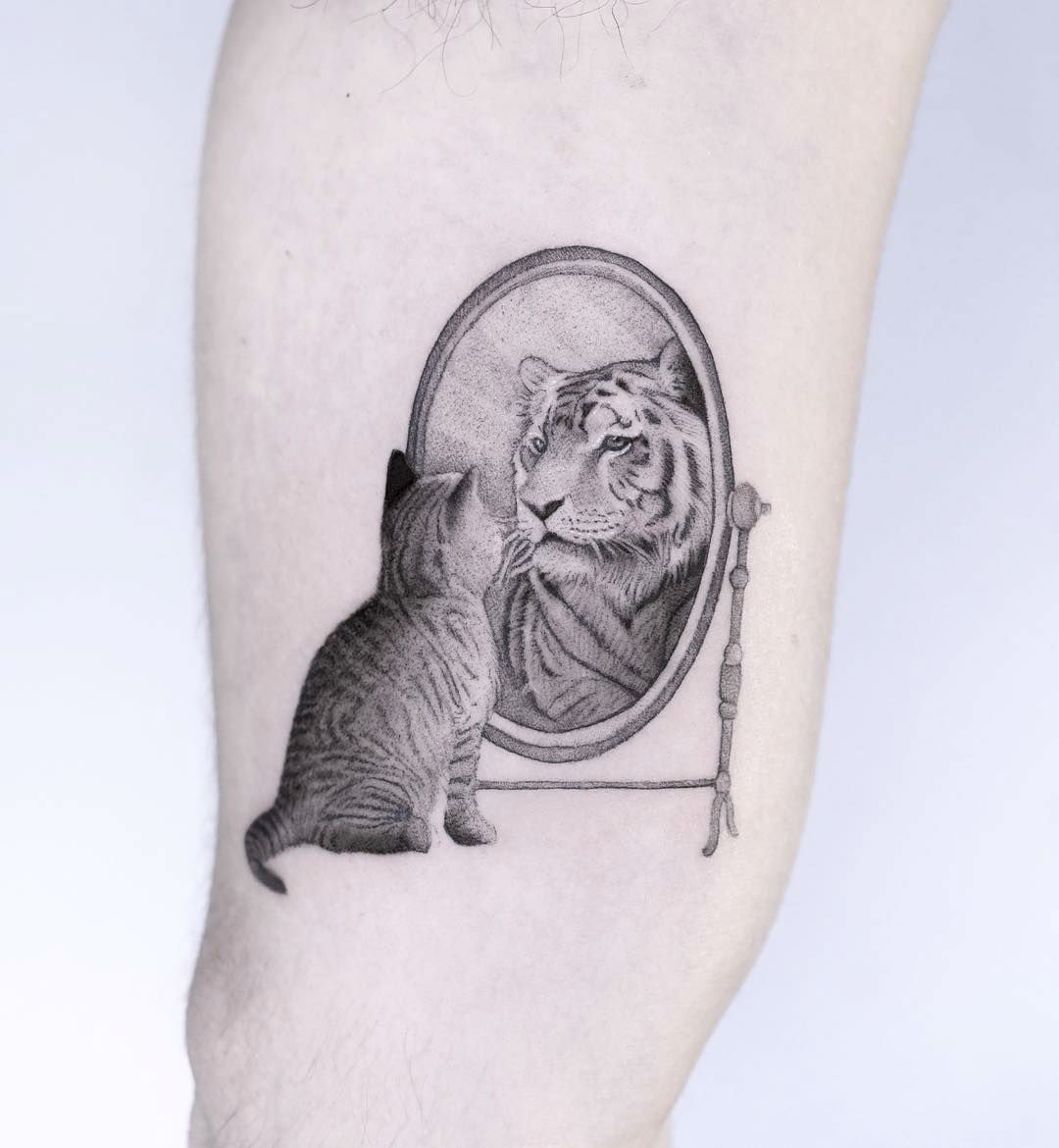 Hyper Realism Tattoos Transform Photographs into Miniature Ink Art by Edit Paints