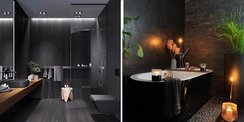 28 Exquisite Black Bathroom Design Ideas