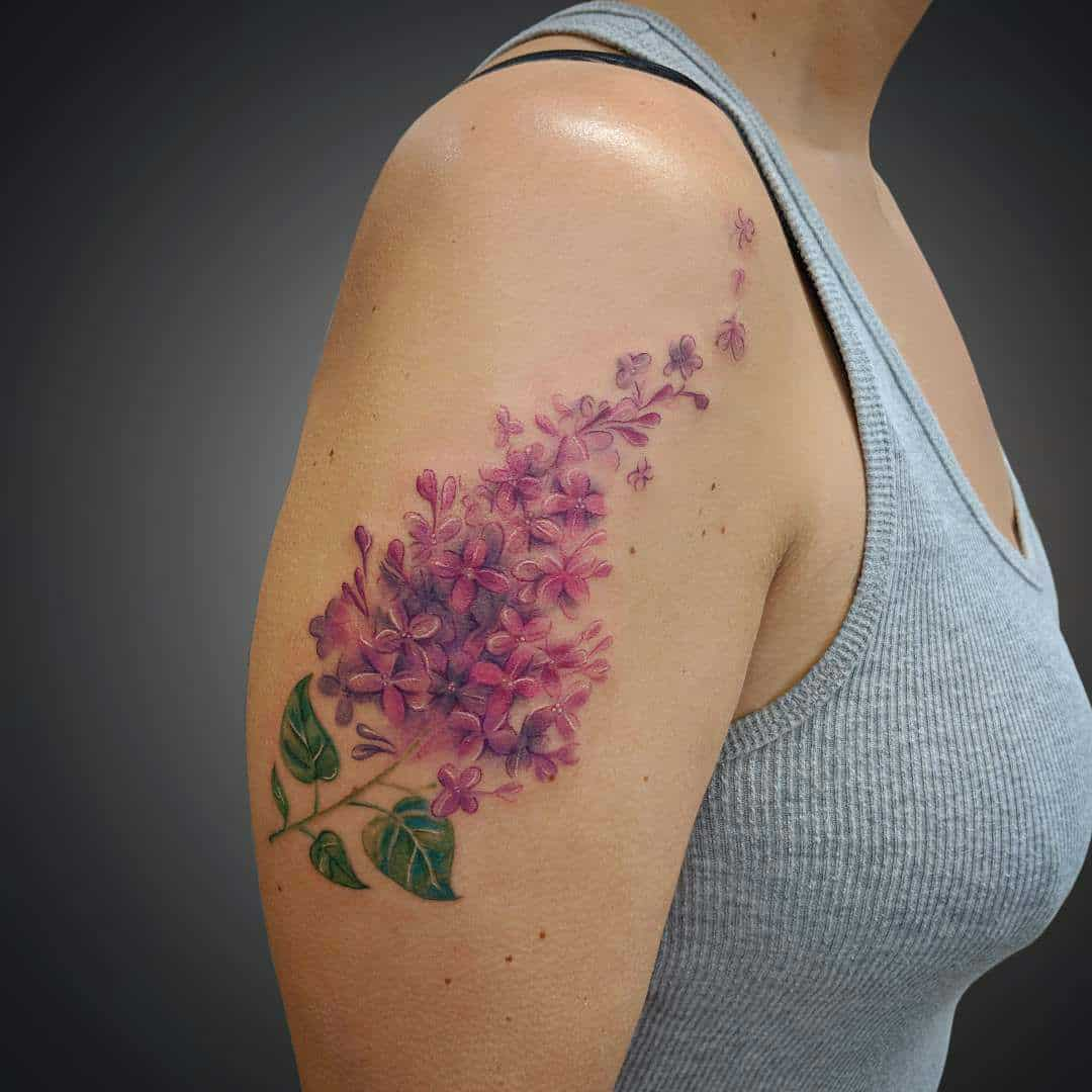 Top 20 Lilac Tattoo Ideas and Their Symbolisms