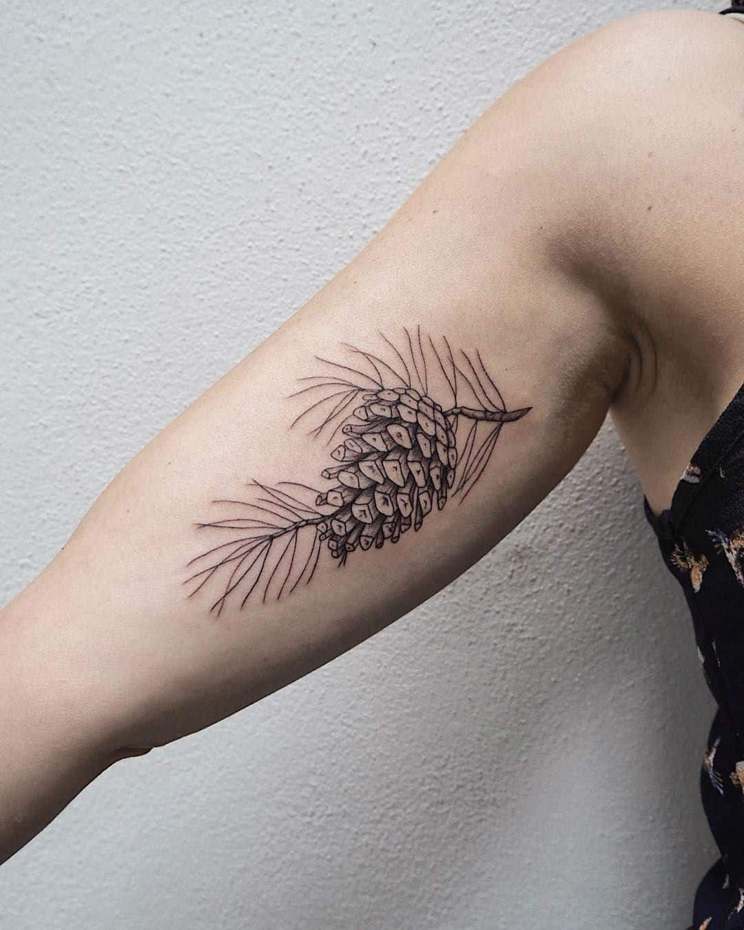 Pinecone Tattoos – Symbol of Human Enlightenment and Eternal Life
