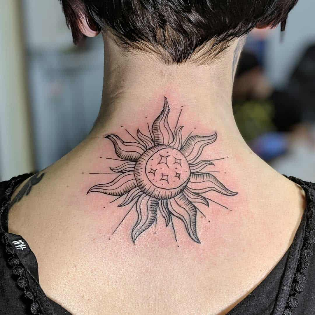25 Sun and Moon Tattoo Design Ideas
