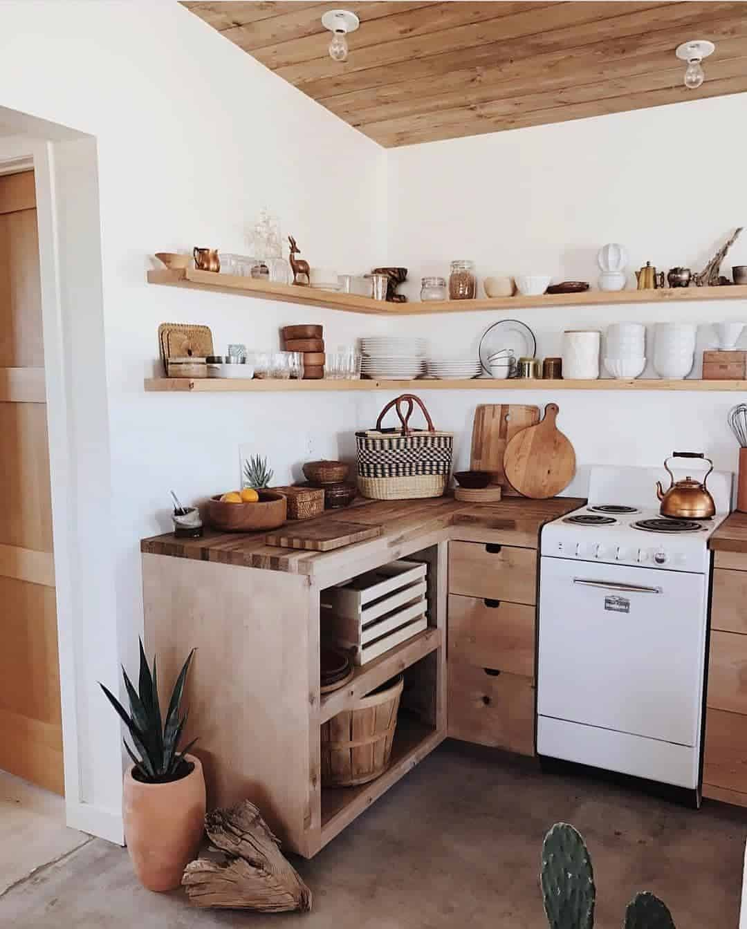 Cozy Kitchen: 20 Cozy Kitchen Designs With Wood Accent