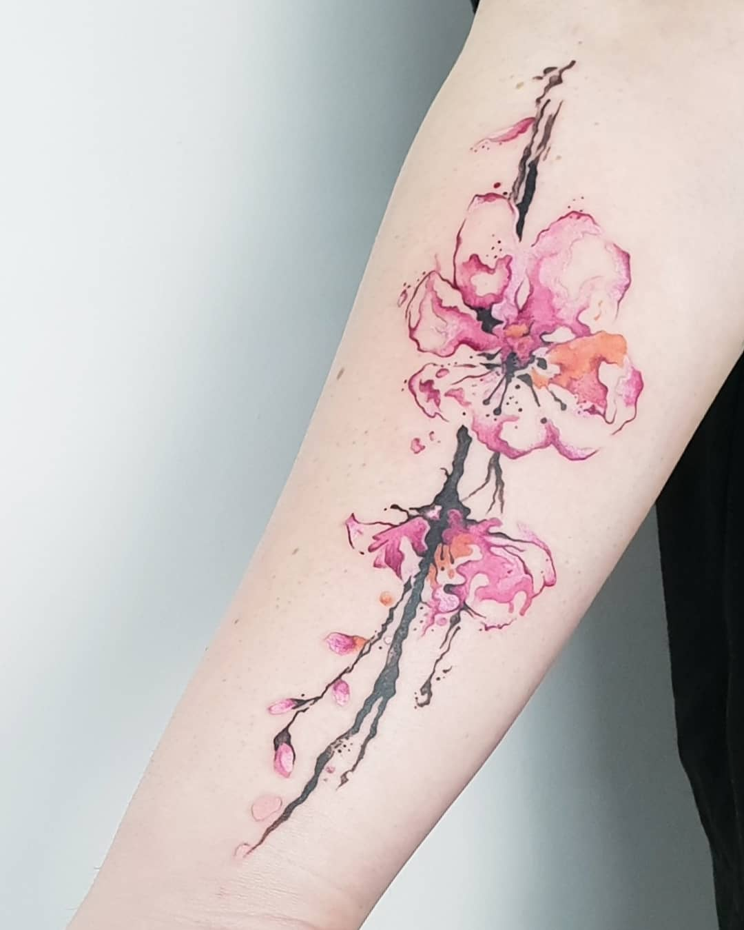 27 Charming Cherry Blossom Tattoo Examples Sortra