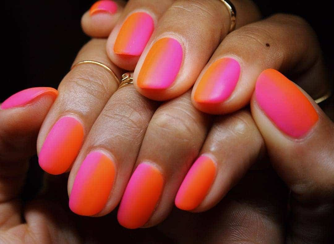Shiny and Bright Neon Nail Art Examples